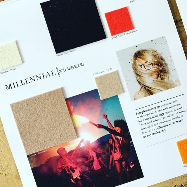 AW 19/20 colour trends: Millennial for Women. Pamplemousse pops and contrasts with sugar pink and pale primrose for a burst of energy against a stark black and white. The edition of neutral hues of camel and taupe combine to create a collection as contrary as any millennial. Follow the link in our bio to view all of our #autumnwintertrends collections. #colourtrends #aw1920 #fashiontrends #fashioninspiration #fashioninspo #colourinspiration #textiles #wooldesign #trends #womenswear #womensweardesign