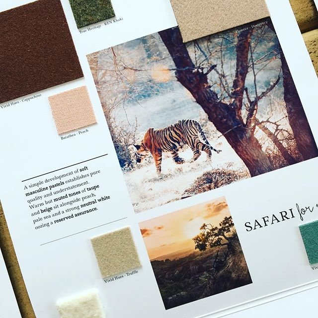 AW 19/20 colour trends: Safari for Men. A simple development of soft masculine pastels establishes pure quality and understatement. Warm but muted tones of taupe and beige sit alongside peach, pale sea and a strong neutral white, oozing a reserved assurance. View all of our Autumn Winter trend collections and request fabric samples by following the link in our bio. #colourtrends #aw1920 #autumntrends #wintertrends #design #fashiondesign #fashion #textiles #mensweardesigner #mensfashion #menswearinspired