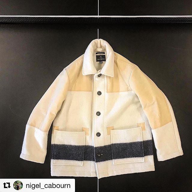 Bravo @nigel_cabourn. #Hainsworth #Wool and Beeswax – a match made in heaven! #repost with @get_repost ・・・ NEW SHOP SPECIAL comming early December for cold three months pure natural wool 650 gram @awhainsworth pure Yorkshire wool with navy stripe on our regular donkey jacket with beeswax half back and shoulders . Only 15 made at Army Gym London @nigelcabournengland only #nigelcabourn #nigelcabournwoman #authentic #madeinengland🇬🇧