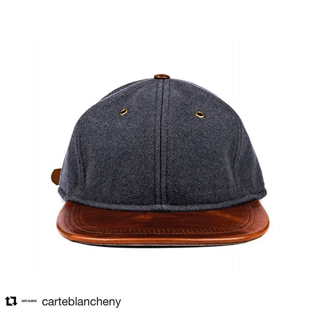 Our #fabric lends itself beautifully to premium #accessories, and this cap from @carteblancheny is a perfect example. #repost with @get_repost ・・・ Season 1: Style 6P-002 | Materials: Hainsworth Wool, Horween Leather & Suede | Available 12/8/18.