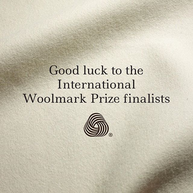 Wishing all the International Woolmark prize finalists a huge good luck ahead of the final show at #lfw this evening. @thewoolmarkcompany #WoolmarkPrize #choosewool