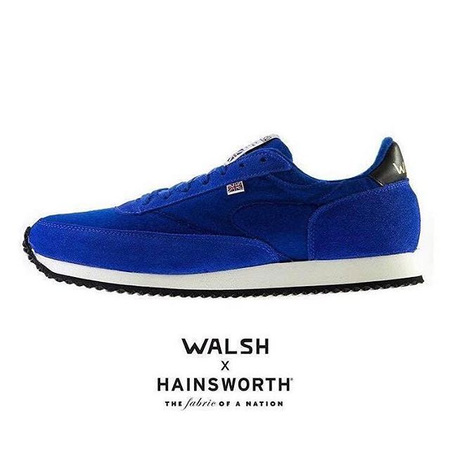 #Throwback to our collaboration with @normanwalshuk as part of his AW17 Craftsman Project. Walsh used fabrics from our True Heritage collection for a range of Military inspired Challenger boots, and colourful shades of Vivid Hues Melton for a selection of the LA 89 trainers. This bright blue was one of our particular favourites! #throwbackthursday #walshtrainers #craftsmanship #luxuryfabric #footwear