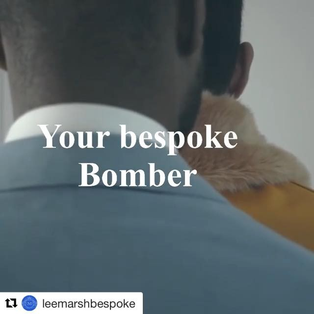 Master craftsman at work @leemarshbespoke 🎥 Creation of a custom-made bomber in #hainsworth Gold #Doeskin.  #Repost @leemarshbespoke with @get_repost ・・・ Bespoke is are heritage..online shop opening soon sorry for delays 🙏🏾cloth used in video gold Doeskin @awhainsworth Collaboration & @leemarshbespoke 📹 @maximiliano.braun  to visit us 📧 bespoke@leemarsh.co.uk