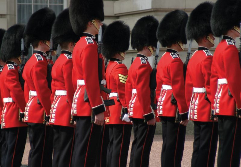 Queens Royal Guards at Trooping the Colour