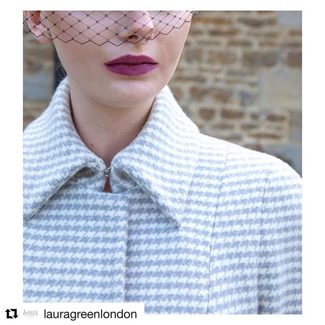 We love seeing our cloth brought to life in beautiful garments. This impeccably tailored coat from @lauragreenlondon is made from our warming #Duffle Dogtooth. #luxuryfabrics #fabric #clothmerchant #wool #britishtextiles #choosewool #repost ・・・ It's time to make room in your wardrobe for your new winter coat. The Josephine. Stylish and warm. Cut in the most luxurious of Houndstooths. . . . #lauragreenlondon #details #collars #tailoring #houndstooth #wool #couture #silklining #greyandwhite #divine #luxury #occassionwear #attheraces #racingstyle