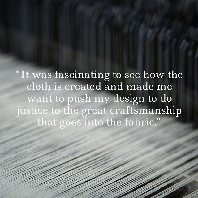 Feedback from an @mmu.fdt student taking part in our latest Live Brief competition: Respect the Past, Create the Future. Three of the four Universities have now visited the mill and are now underway with designing their innovative garments using iconic #Hainsworth cloth. #livebrief #fashionstudent #fashiondesignstudent #fashiondesignandtechnology @manmetuni