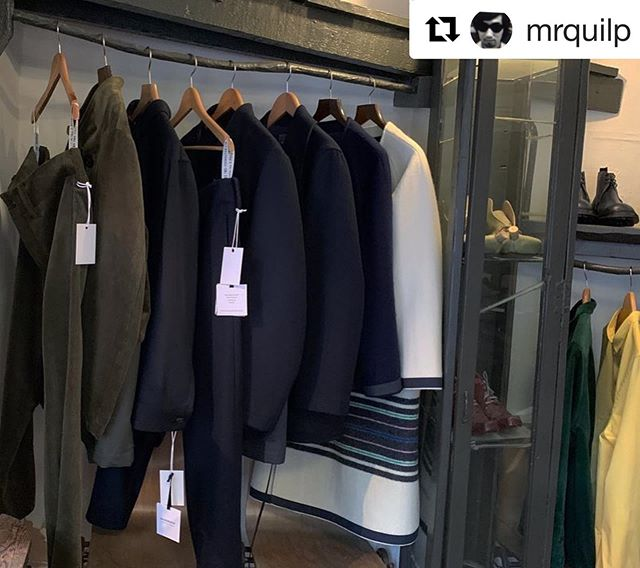 Hainsworth #Duffle #bespoke stripe fabric spied in the QUILP 20 F/W collection 👀  #Repost @mrquilp with @get_repost ・・・ QUILP 20 F/W collection Installation at THE OLD CURIOSITY SHOP Day 3  14-17th FEB 2020 10:00-18:00  Location : The Old Curiosity Shop 13/14 Portsmouth street London WC2A 2ES  #quilp #quilpbytrickers #theoldcuriosityshop #trickers #london