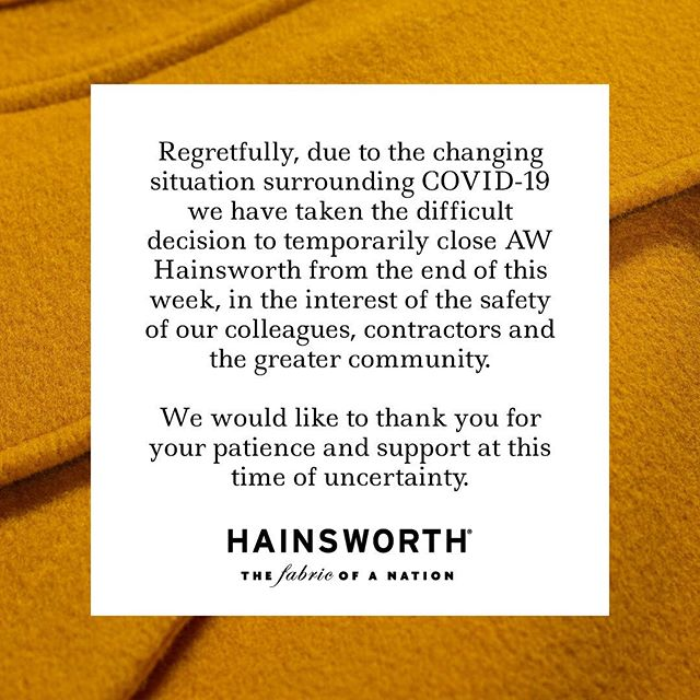We believe it is our primary duty to look after the health, safety and well-being of our colleagues, valued customers and supply partners. And so, with a heavy heart, we have decided to temporarily close our Mill from this Friday 27th March. We aim to dispatch as many orders as possible this week, and hope to reopen on Monday 13th April.  We will continue to post content which we hope you find valuable. Please continue to check our website for further updates, and use the contact form to ask any questions you may have. Thank you ✨