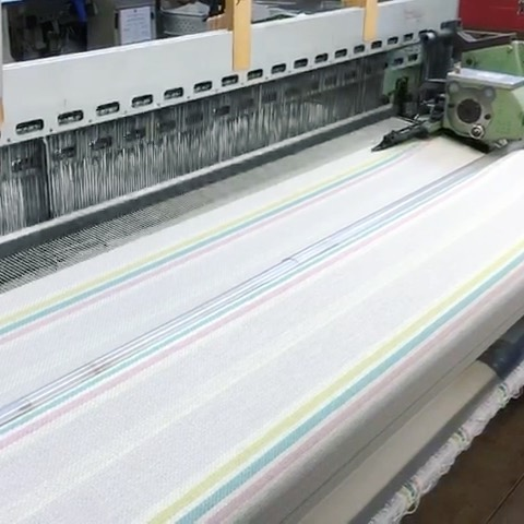 Great to see our looms in action this morning, weaving one of the three new #Duffle Stripes that will join the #AW2122 collection this summer. We're so pleased to say that production of our iconic cloth has resumed, whilst following Government advice and carefully abiding to social distancing regulations in all areas of the Mill. We're also able to send up to 5 free #fabric #samples as normal, please visit our website (link in bio) to browse the current collection and submit your sample order. #luxuryfabrics #clothmerchant #outerwear #autumnwinter #wool #choosewool #fashiondesigner #fabricofanation
