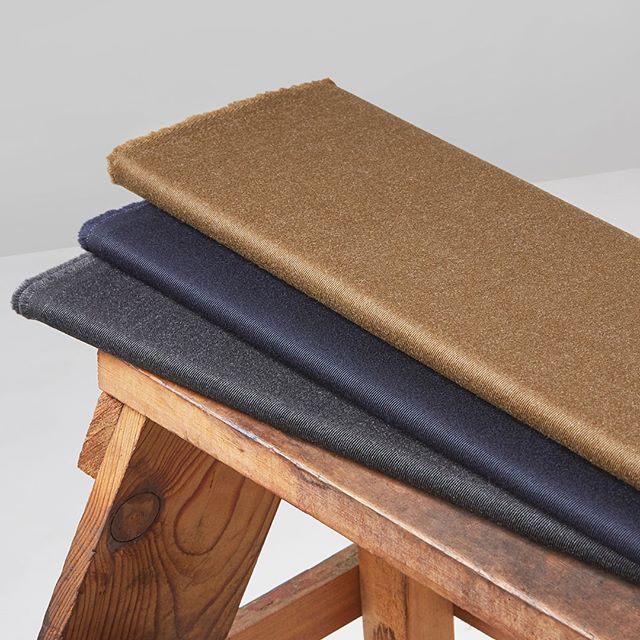 #InteriorsRediscovered. The 100% worsted Whipcord is a tailoring classic with a distinguished heritage. With a smooth twill, soft sheen and fluid handle, the Whipcord collection brings a luxurious feel to elegant interiors.  Made from 100% Merino Wool, this fabric benefits from the natural characteristics of wool, including breathability and moisture absorption. Available in classic khaki, navy and charcoal, the Whipcord collection is suitable for light residential upholstery, cushions and drapes. Stock supported and available to order from just 2 metres – visit hainsworth.co.uk/interiors. #InteriorsRediscovered #Hainsworth #fabricofanation #furnishingfabrics #textilefabrics #upholsteryfabric #upholsteryfabrics